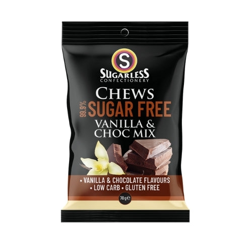 Sugarless Confectionery Vanilla and Choc Mix Chews