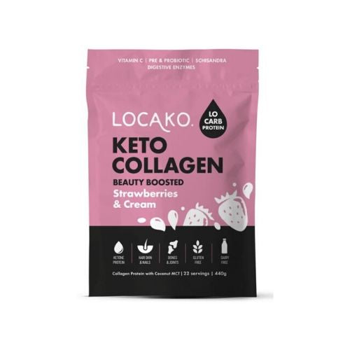 Locako Keto Collagen Beauty Boosted Strawberries and Cream