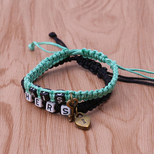 2 color Couples Bracelet His and Hers