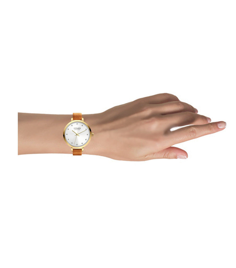 Emelia Monier Crystal Icon Gold Tone Women's Watch Ref. No: EML004-02BR
