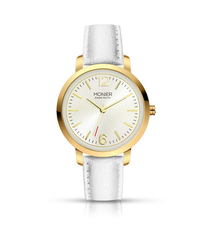 Emelia Monier W Bridge Gold Tone Women's Watch Ref. No: EML006-02WT