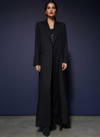 REVERSIBLE PUFF ABAYA, NAVY