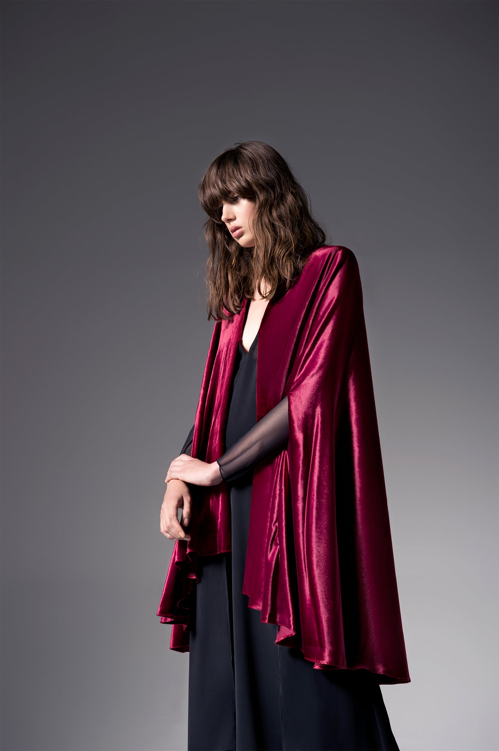 Look 4 - Winter Berry Cape Abaya