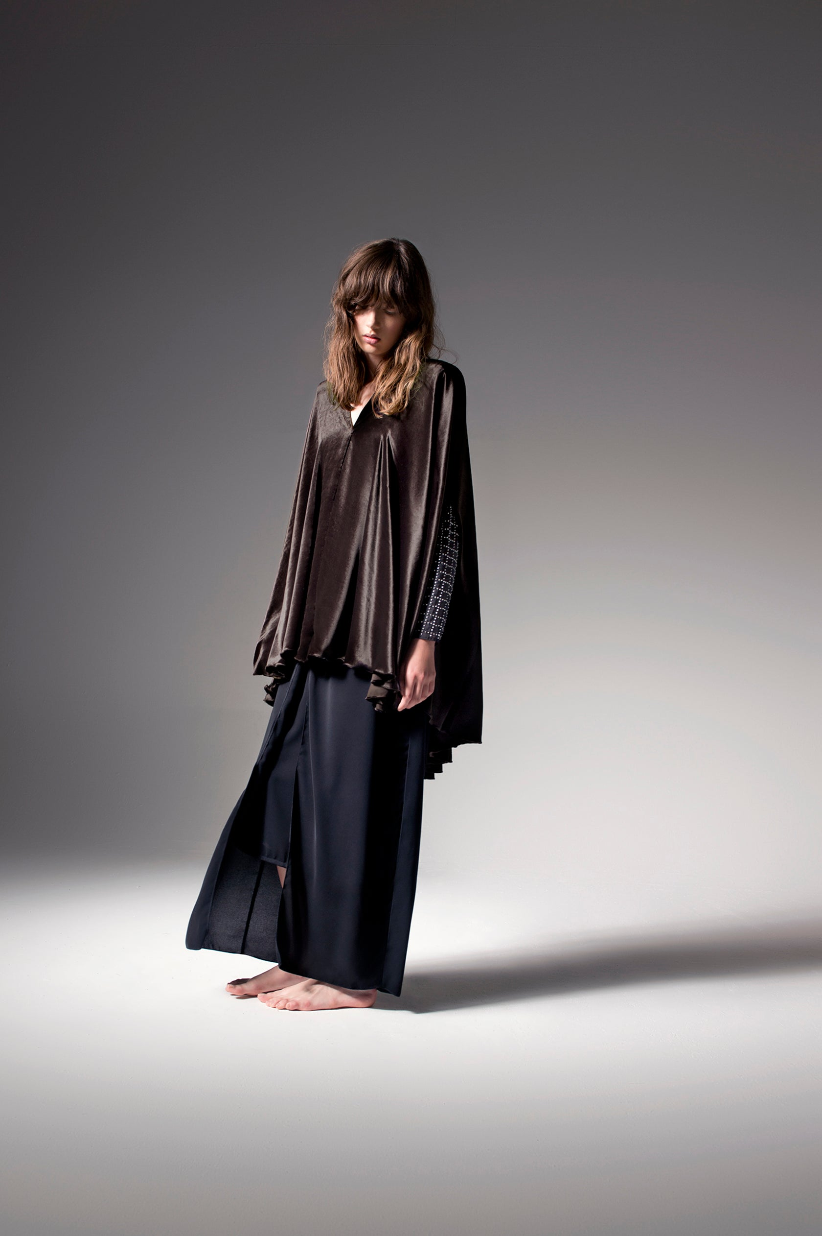 Look 10 - Rich Brown Cape Abaya