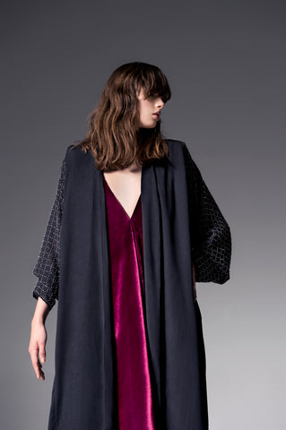 Look 7 - Ocean Blue Cape Abaya