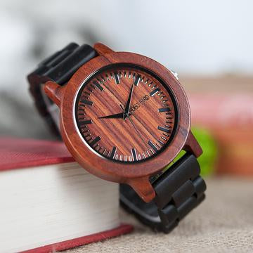 masculino wooden guy watches clock men mens quartz handmade s products top watch wood red sport nature bamboo male jewels hands gift unique wrist