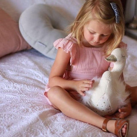 Sylvie Swan Toy-Soft-Plush-Lily-and-george-toys-From The Art