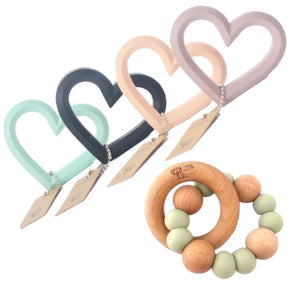 Teething Gift set-Baby-teething-Nature-Bubz-From The Art-toy-shop-love-heart