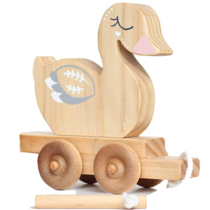 From The Art -toy-shop Ducky Travel Buddy - duck pull along toy-wooden-toys