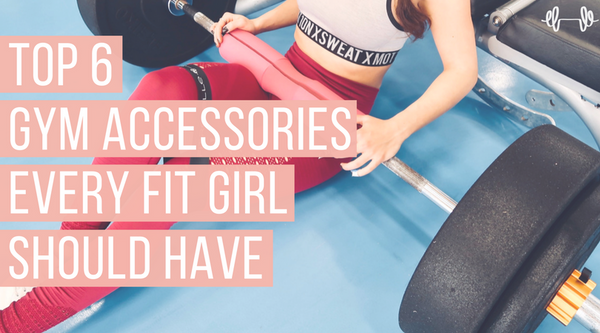 best gym accessories for women fitness equipment barbell pad and mini bands for glutes workout