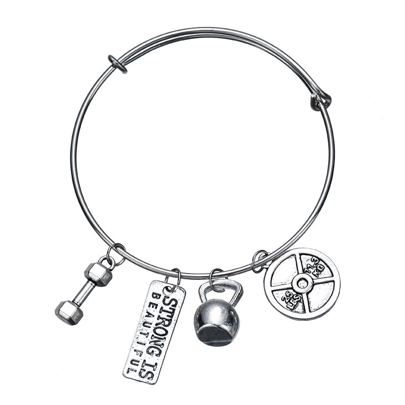 Gym Motivation Bracelet with Charms