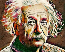Einstein Art Portrait