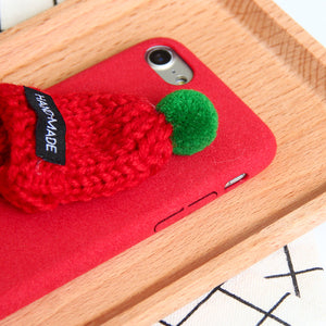 iPhone 8 (Plus) Case Warm Hat With Bubo