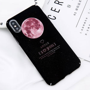 iPhone X Case Space Moon