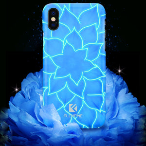 iPhone X Blue Lotus Flower Case