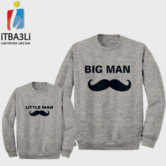 Big And Little Man (Mustache)