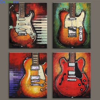 Unique Guitar Wall Art (4 Pieces)