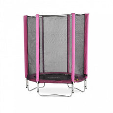 4.5ft Junior Trampoline And Enclosure - Pink
