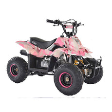 GMX Ripper 110cc Sports Quad Bike - Camo Pink