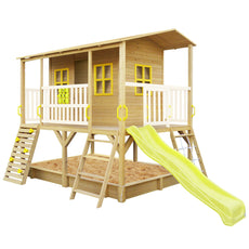 Winchester Cubby House (Yellow Slide) & Bucket Set