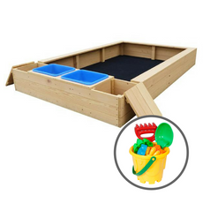 Mighty Rectangular Sandpit + Bucket Set