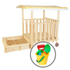 Jack Sandpit with Canopy on Wheels & Bucket Set