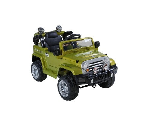 Jeep Wrangler Kids Ride On Green Remote Control Car