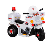 Kids Ride On Whited Police Motorbike