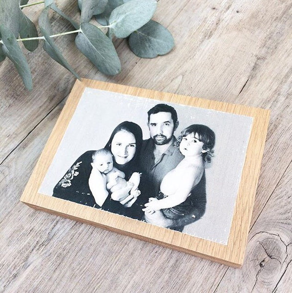 Solid Oak Photo Block