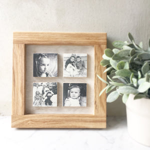 4 Tile Oak Picture Frame