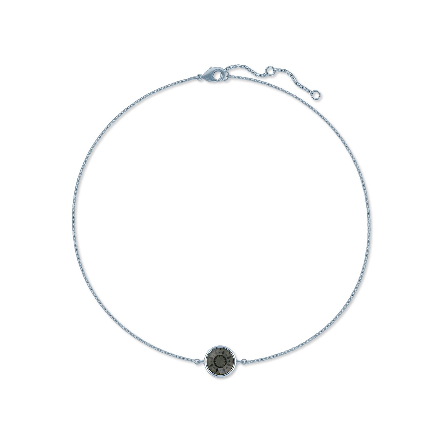 c3bb84e54 Harley Chain Bracelet with Black Diamond Round Crystals from Swarovski  Silver Toned Rhodium Plated - Ed