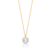 Bella Pendant Necklace with White Clear Round Crystals from Swarovski Gold Plated - Ed Heart