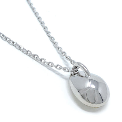Mary Pendant Necklace with White Clear Drop Crystals from Swarovski Silver Toned Rhodium Plated