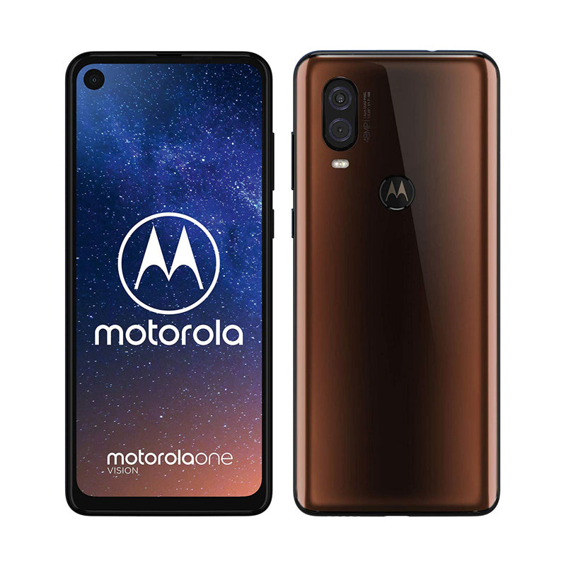 MOTO ONE VISION  XT1970 128GB -(4gb ram display 6.3inc  48mp bronze sapphire)