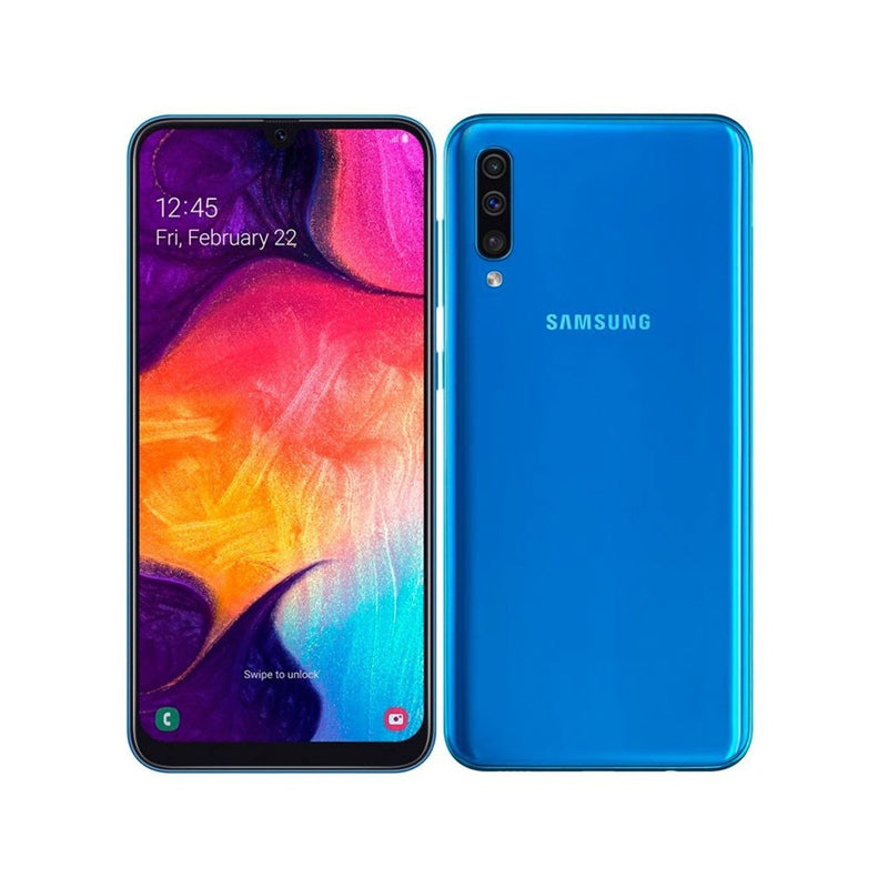 SAMSUNG GALAXY A50 SM-A505G/DS -( 4gb ram 6.4 inc triple camera 25, 8, 5MP)