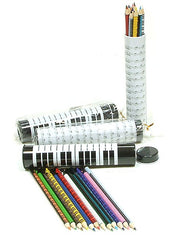 Music Themed Colour Pencils in Tubular Case