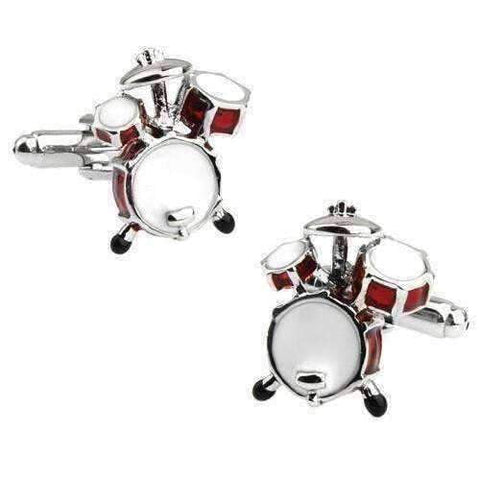 Image of Music Bumblebees Drum Set Music Design Cuff Links Various - Musical Note, Guitar, Drum, Saxophone, Trumpet and Piano
