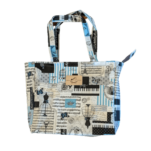 Image of Uma Hana Featured Products,Music Gifts,For Students,New Arrivals Uma Hana Music Themed Water Resistant Medium Tote Bag
