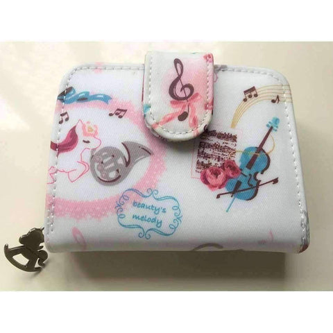 Uma Hana Featured Products,Music Gifts,For Students,New Arrivals Unicorn Green Uma Hana Music Themed Water Resistant Lady Wallet