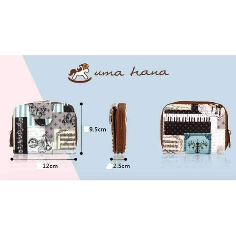 Uma Hana Featured Products,Music Gifts,For Students,New Arrivals Unicorn Pink Uma Hana Music Themed Water Resistant Lady Wallet