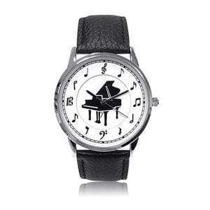 Image of Music Bumblebees Featured Products,Music Gifts Music Themed Watch Black with Piano