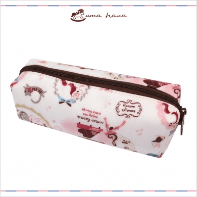 Music Bumblebees Featured Products,Products,Music Stationery,Music Gifts,For Students,Music Gifts for Kids Pink Unicorn Uma Hana Music Themed Water Resistant Rectangular Soft Pencil Case - 3 Patterns