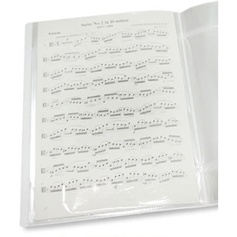 Music Bumblebees Folder Non-Reflective Music Folder without spiral binding - 40 Pockets