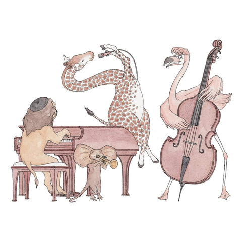 Image of The Jazz Swingers ~ Greeting Card featuring Watercolour & Ink Illustration by Stephanie Gray