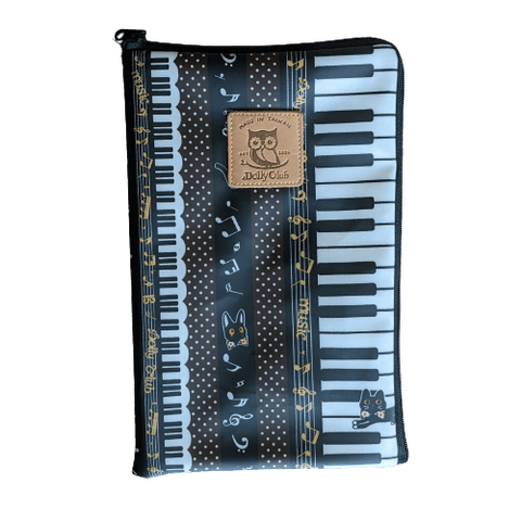 Music Bumblebees Music Bag iPad Mini or Small Tablet Bag (Water Resistant) - Kittens & Keys Series