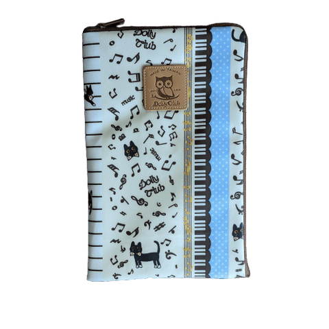 Image of Music Bumblebees Music Bag iPad Mini or Small Tablet Bag (Water Resistant) - Kittens & Keys Series