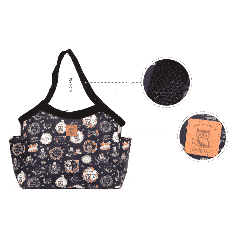 Music Bumblebees Music Bag Large Classic Shoulder Bag (Water Resistant) (Blue Stripe on White Pattern) - Kittens & Keys Series