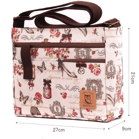 Music Bumblebees Music Bag Music Themed Water-resistant Music Themed Water-resistant Multi-Pocket Shoulder Bag - Kittens & Keys Series