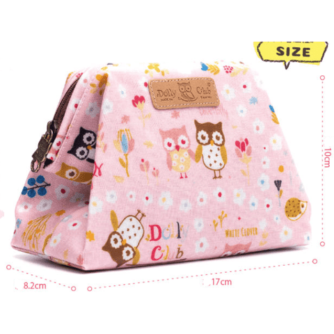 Image of Music Bumblebees Music Bag Music Themed Water-resistant Portable Cosmetic Bag - Kittens & Keys Series