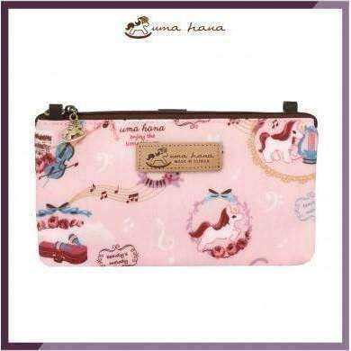 Image of Uma Hana Music Bag Pink Unicorn Uma Hana Smart Bag with Smartphone Pouch Velcro Strip